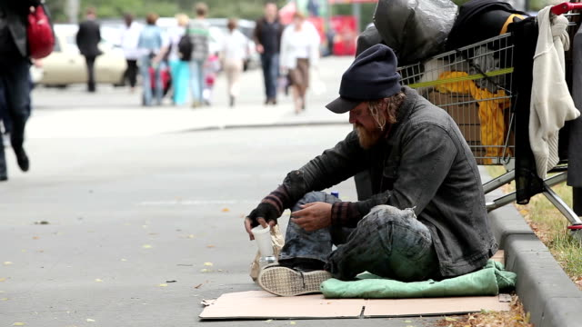 beggar - unemployment stock videos & royalty-free footage