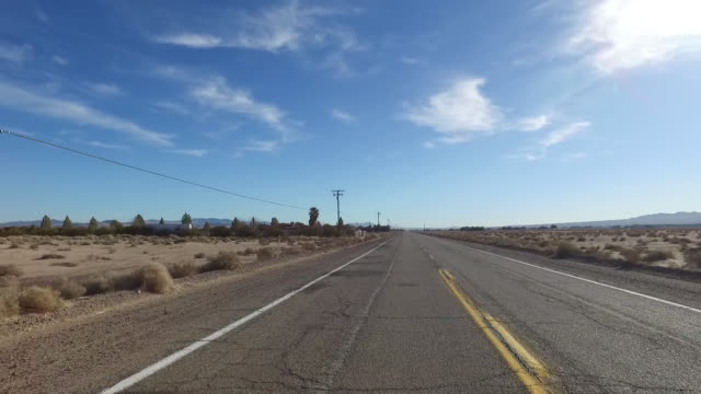Behind the car view of route 66 - video
