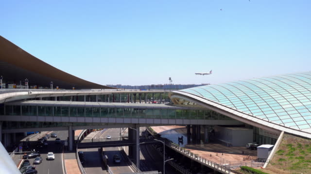 Beijing International Airport, one of the world's largest airport in passenger traffic video