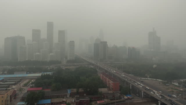 T/L WS HA PAN Beijing Smog, City in Air Pollution video