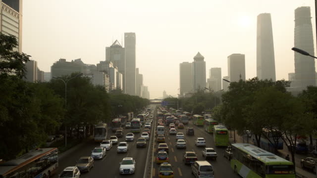 Beijing traffic Traffic in a main road of Beijing sorpresa stock videos & royalty-free footage