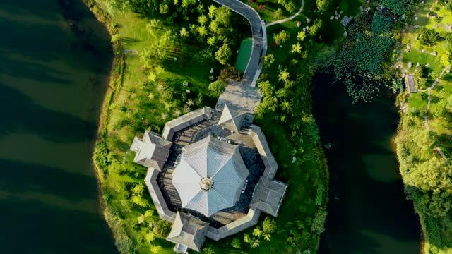 中国の北京安渓湖自然景勝地 - 仏塔点の映像素材/bロール