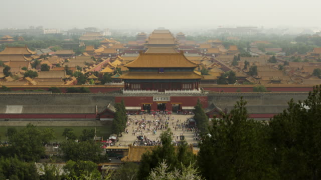 Beijing-Forbidden City Time lapse of the entrace to the Forbidden City sorpresa stock videos & royalty-free footage