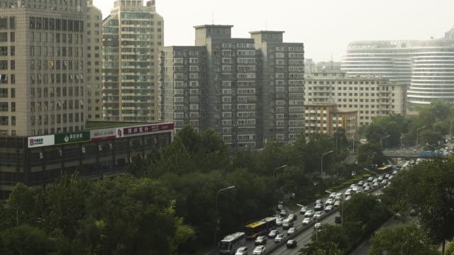 Beijing-Skyline 2 Heavy traffic in Beijing sorpresa stock videos & royalty-free footage