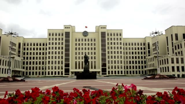 weißrussischen parlament - weißrussland stock-videos und b-roll-filmmaterial