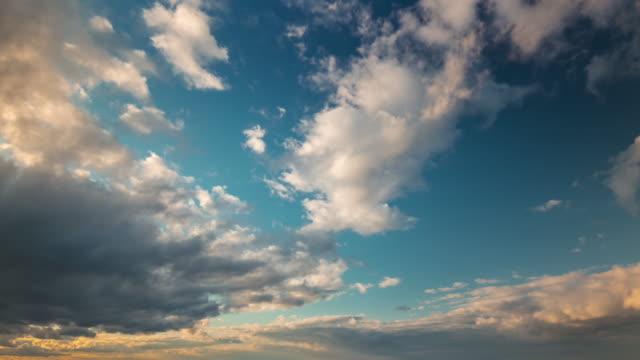 belarus sunny sunset sky 4k time lapse video