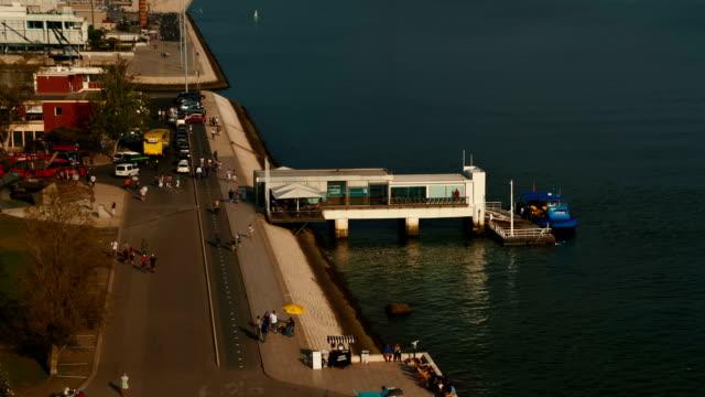 vídeos de stock e filmes b-roll de belem, lisbon, portugal - ponte 25 de abril