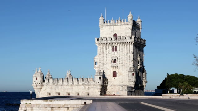 Belem Tower in Lisbon, Portugal video