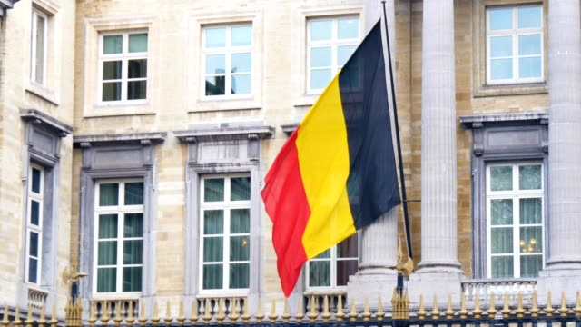 belgian flag waging at  Belgian National Congress video