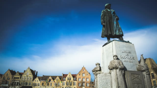 Belgian War Monument Timelapse in the Yser River town Diksmuide video
