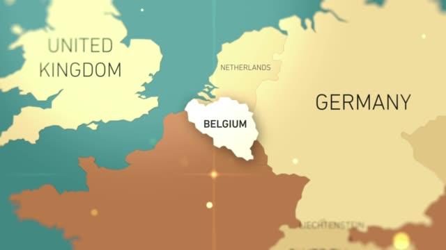 belgium on world map stock video - hiroshima filmów i materiałów b-roll
