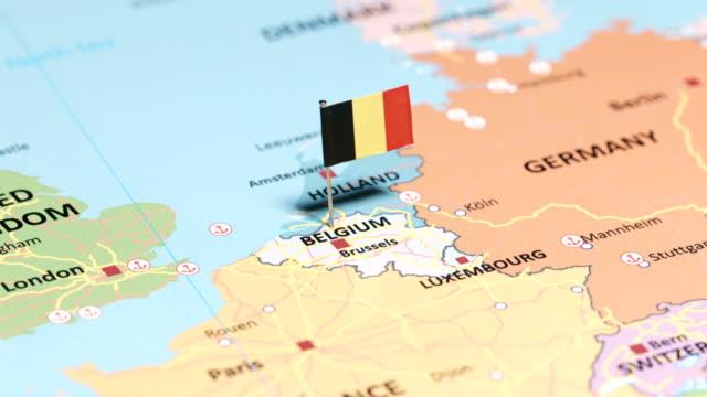 belgium with national flag - belgio video stock e b–roll