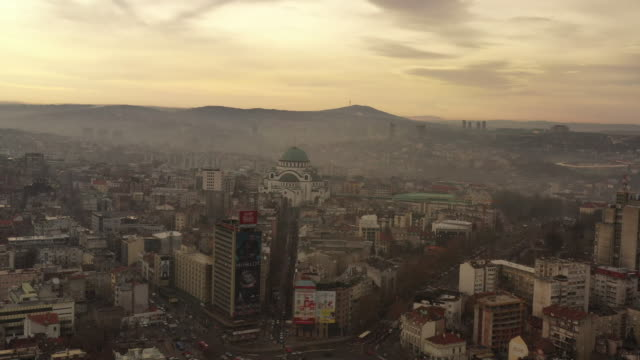 belgrade - serbia, balkans, church of saint sava - belgrade, eastern europe, europe - serbia video stock e b–roll