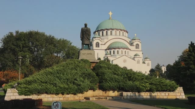 belgrade serbia karadjordje - serbia video stock e b–roll