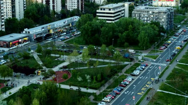 belgrade serbia time lapse - serbia video stock e b–roll