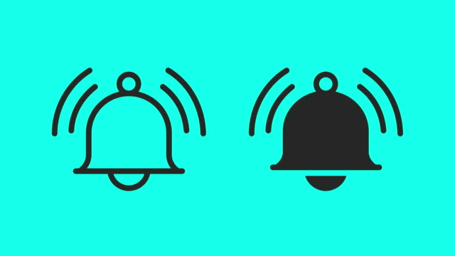 bell icons - vector animate - clip art video stock e b–roll