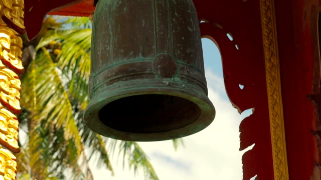 Bell in Thai Buddhist Temple video