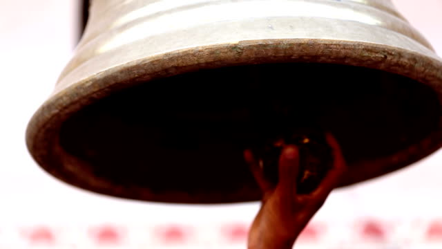 Bell ringing at Hindu temple video