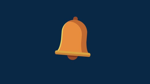 Bell ringing symbol HD animation