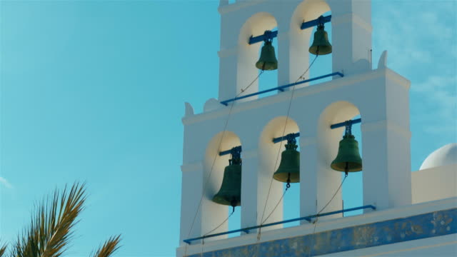 Bell Tower Detail of a Traditional Cycladic Mediterranean Church video
