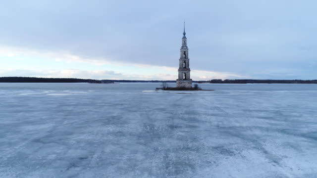 Bell tower in the ice video