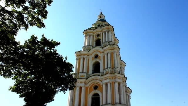 bell tower of Troitskyi monastery in Chernihiv video