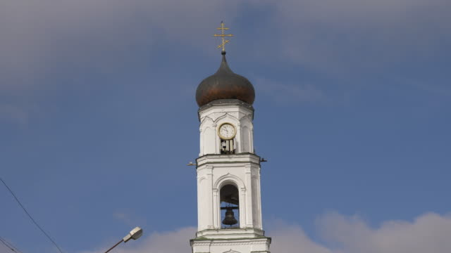 Bell tower with over-the-gate Church of Archangel Michael video