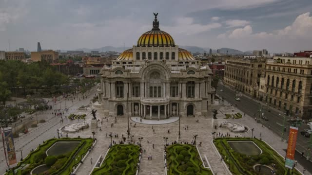 bellas artes palace in mexico city time lapse - cathedrals stock videos & royalty-free footage