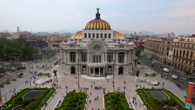 bellas artes palace in mexico city - город мехико стоковые видео и кадры b-roll