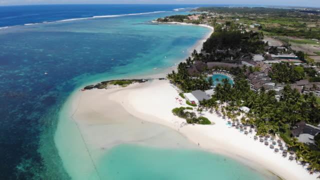 belle mare beach & hotels - isole mauritius video stock e b–roll