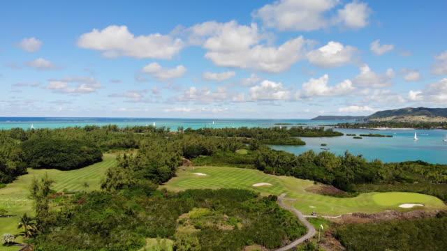 belle mare beach & hotel - isole mauritius video stock e b–roll