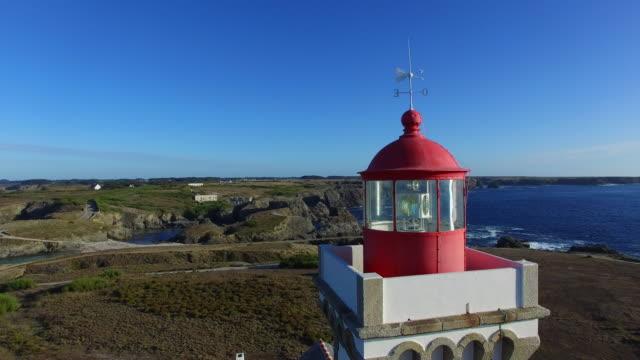 vidéos et rushes de belle-île-en-mer-le phare des poulains - bretagne