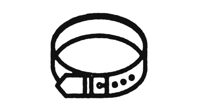 Belt Accessories Icon Animation Footage & Alpha Channel