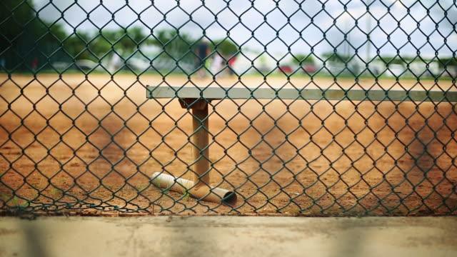 Bench at a baseball park video