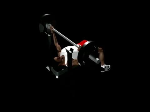 ベンチプレス、アルファチャネル ntsc - 人の筋肉点の映像素材/bロール