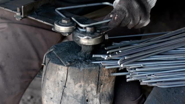 bending iron bending iron wrought iron stock videos & royalty-free footage