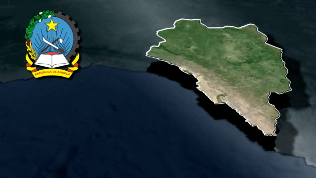 Benguela with Coat of arms animation map video