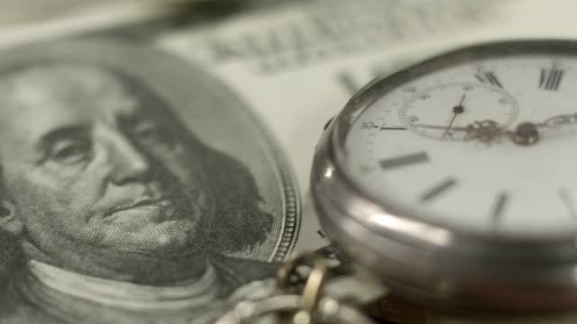Benjamin Franklin 100 dollar bill, money, time, financial system video