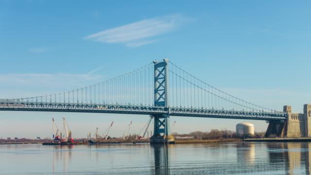 Benjamin Franklin Bridge in Philadelphia PA video