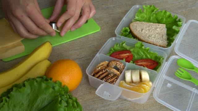vidéos et rushes de bento lunch box - en cas