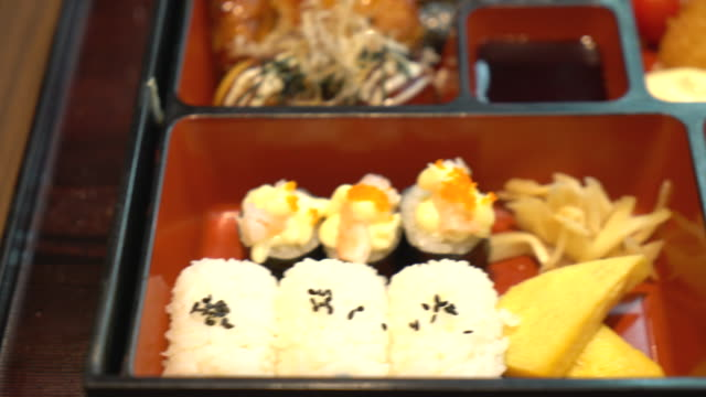 弁当セット-日本の料理スタイル ビデオ