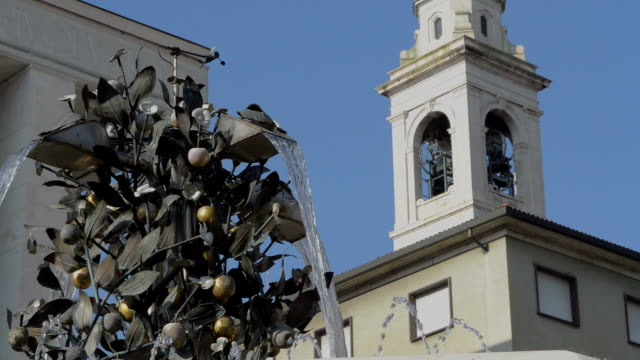 Bergamo Italy bells stop ringing in Piazza della Liberta