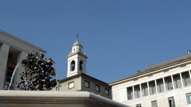 Bergamo Italy water fountain in Piazza della Liberta