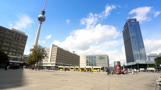 Berlin Alexanderplatz with TV Tower video