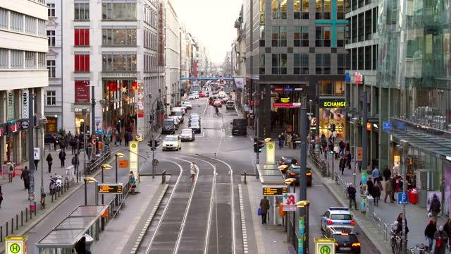 Berlin Friedrichstrasse, time alspe Berlin Friedrichstrasse, time alspe weihnachten stock videos & royalty-free footage