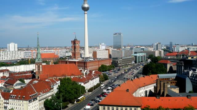 Berlin Mitte Skyline Tilt Up (4K/UHD to HD) video