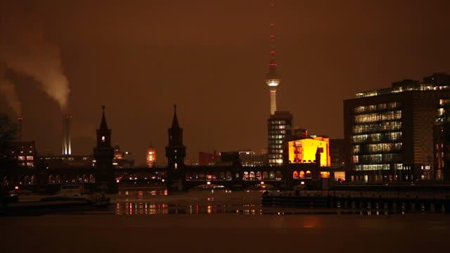 Berlin Panorama - Spree (time lapse) Berlin Panorama - Spree (time lapse) wasser videos stock videos & royalty-free footage