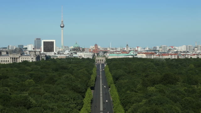 Berlin panoramic cityscape video