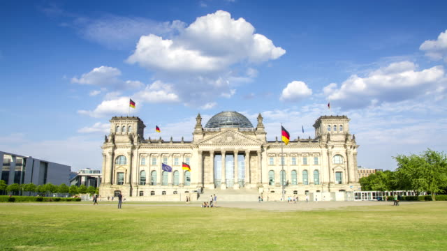 Berlin Reichstag 4K time lapse of German parliament building video