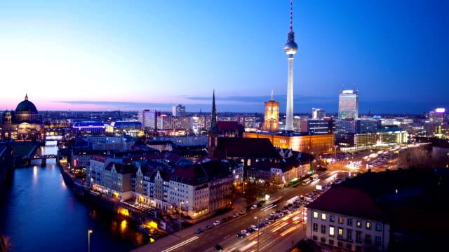 Berlin Skyline at Night video